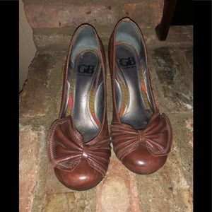 Leather Brown Wedges
